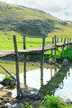 old wooden bridge over river - PhotoDune Item for Sale