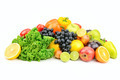 set fruit and vegetables isolated on white - PhotoDune Item for Sale