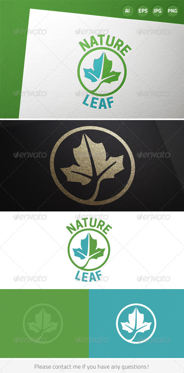 GraphicRiver Green Leaf Nature Logo 8474220