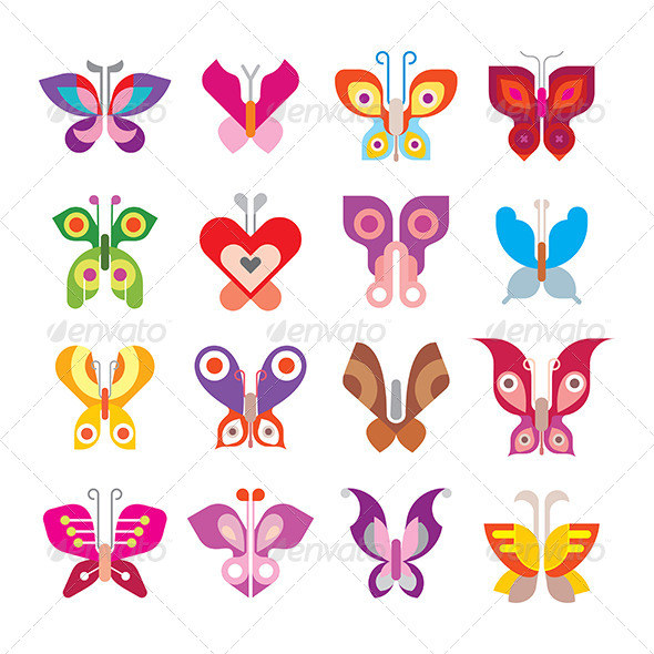 GraphicRiver Butterfly Icon Set 8474586