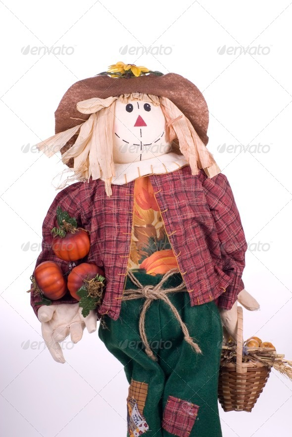 Halloween Scarecrow Craft Decoration - Stock Photo - Images