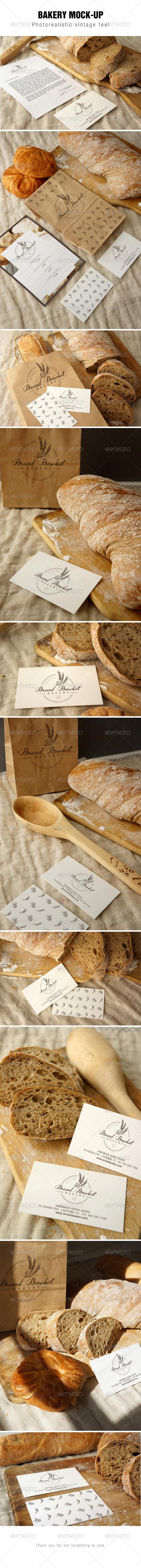 GraphicRiver Bakery Branding Mockup 8475026