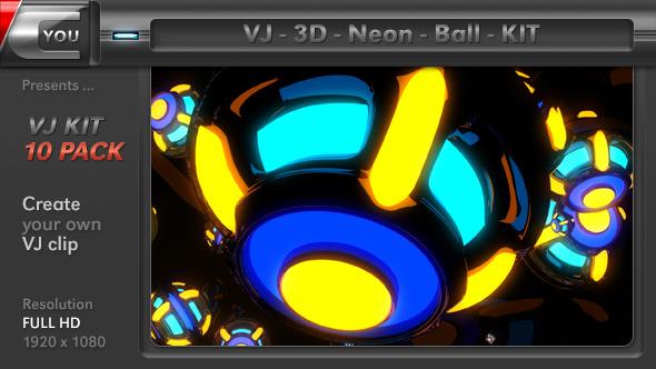 VJ 3D Neon Ball Kit