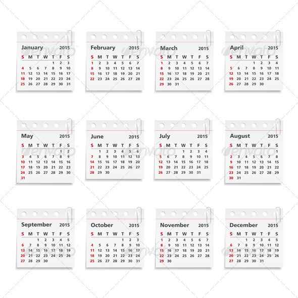 GraphicRiver 2015 Calendar 8485290