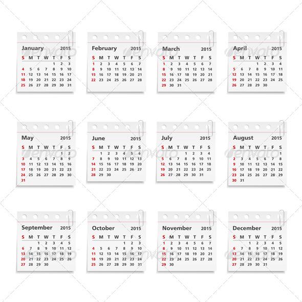 GraphicRiver 2015 Calendar 8485290