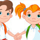 Boy and Girl Ready to School - GraphicRiver Item for Sale