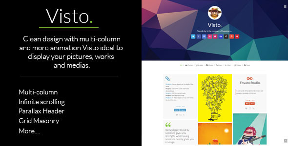 ThemeForest Visto Multi-column Responsive Tumblr Theme 8416352