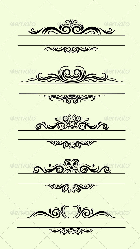 GraphicRiver Various Ornamental Borders 8485757