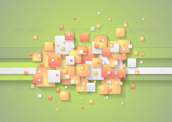 GraphicRiver Abstract Colorful Squares Vector Background 8485782