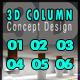 3D Column Concept Design 124