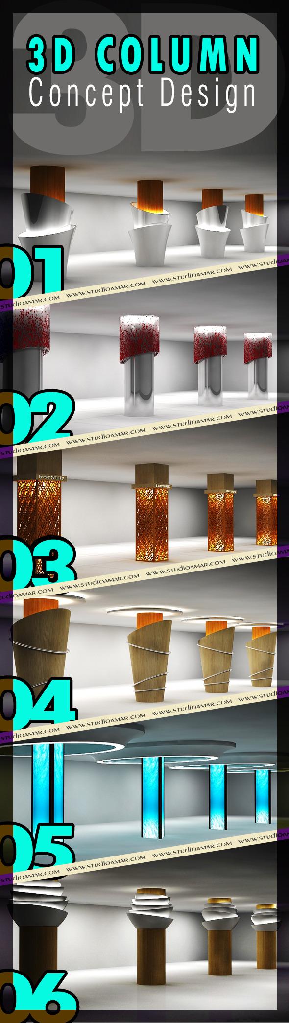 3DOcean 3D Column Concept Design 124 8485805