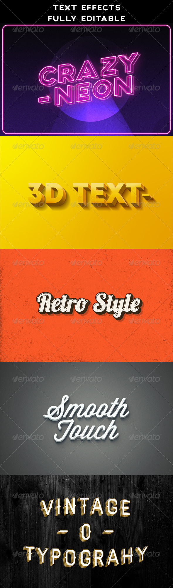 GraphicRiver Text Effects Vintage 3D Retro Neon 8485886