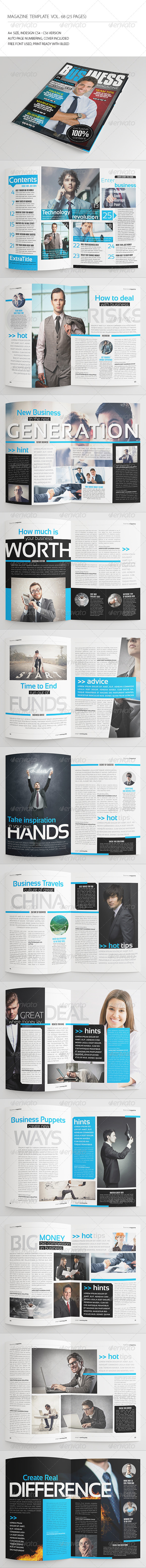 GraphicRiver 25 Pages Business Magazine Vol68 8486083