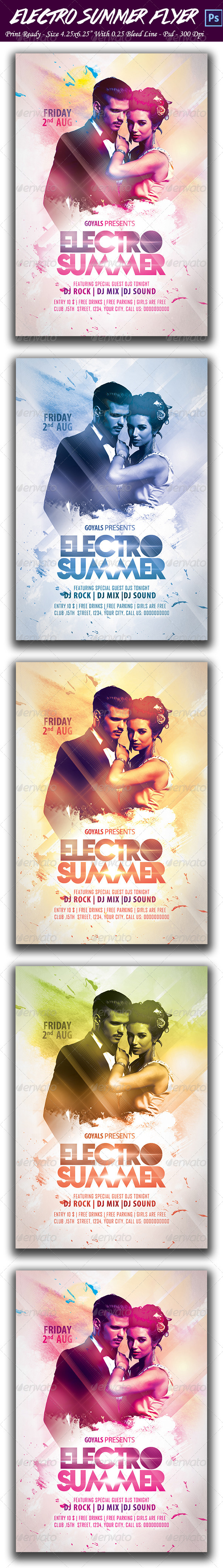 GraphicRiver Electro Summer Party 8486311