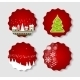 Set of Labels with Christmas BALLS, Stars and Snow - GraphicRiver Item for Sale