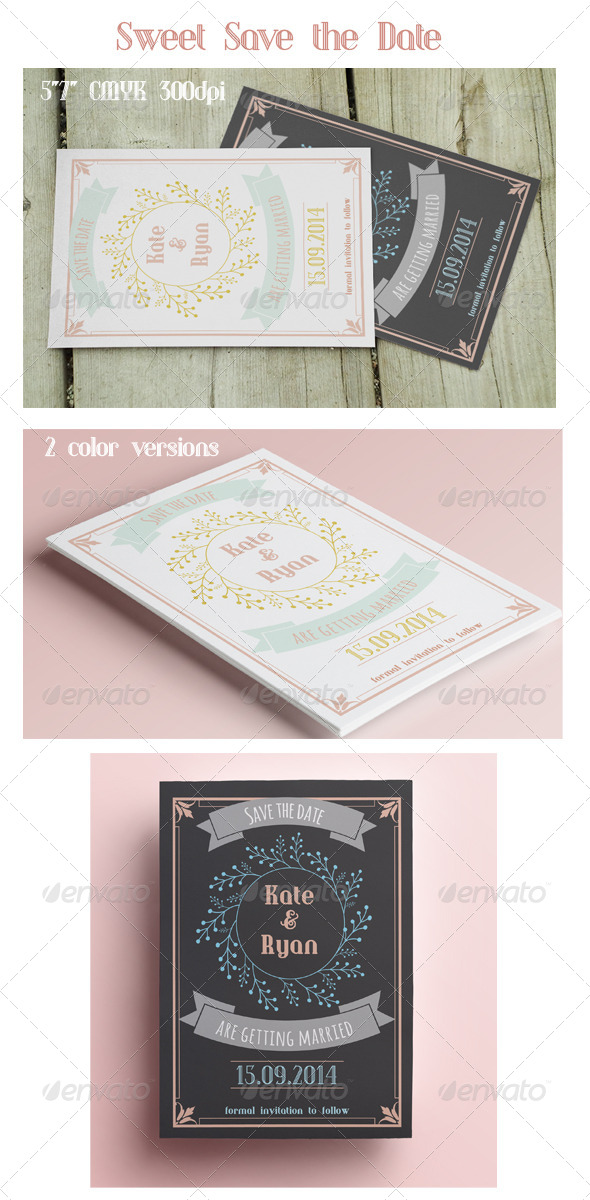 GraphicRiver Sweet Save the Date 8474414