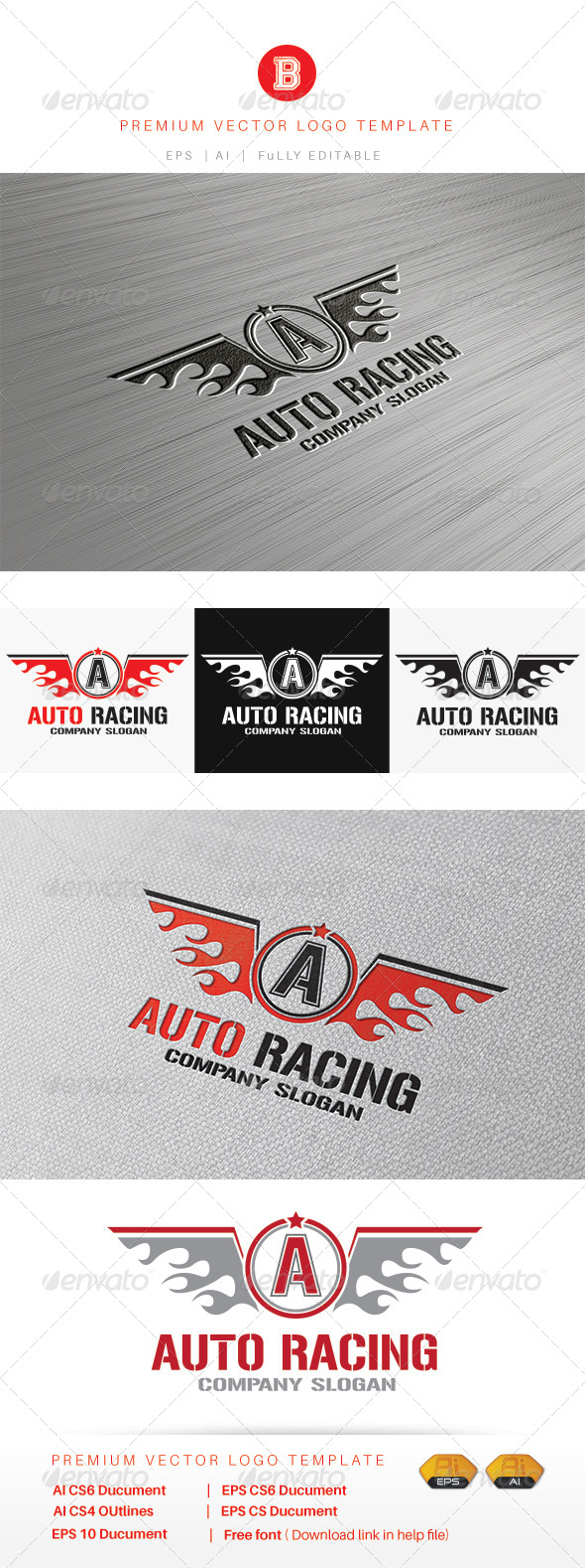 GraphicRiver Auto Racing 8486614