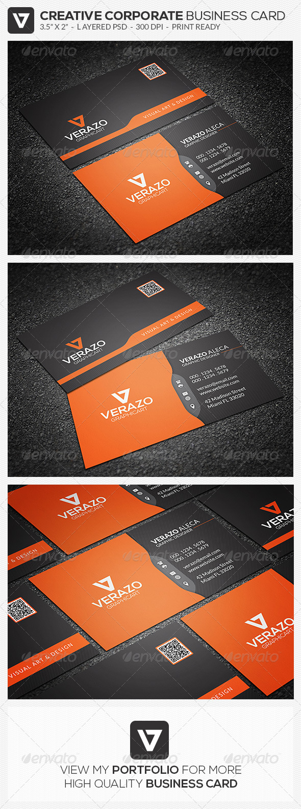 GraphicRiver Modern Corporate Business Card 52 8487086