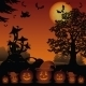 Halloween Landscape with Pumpkins Jack-o-Lantern - GraphicRiver Item for Sale