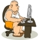 Fat Man At The Computer - GraphicRiver Item for Sale