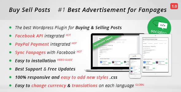 CodeCanyon Buy Sell Posts on Fanpages Wordpress Plugin 8487412