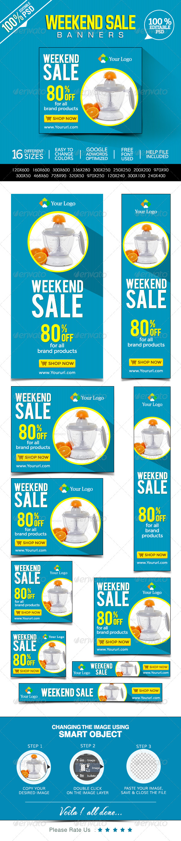GraphicRiver Weekend Sale Banner 8487624