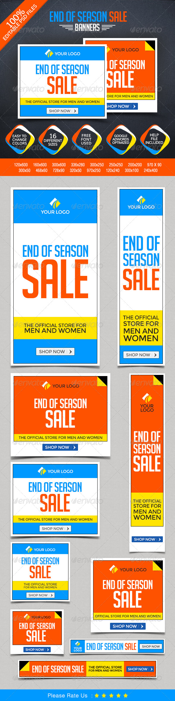 GraphicRiver End of Season Sale Banners 8487705