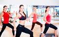 group of smiling people doing aerobics - PhotoDune Item for Sale