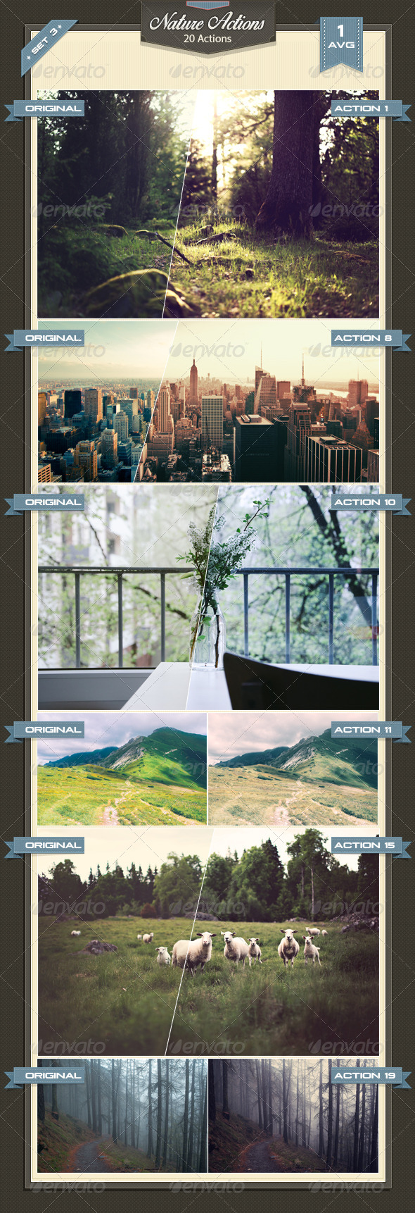 GraphicRiver Nature Photoshop Actions Set 3 8487780