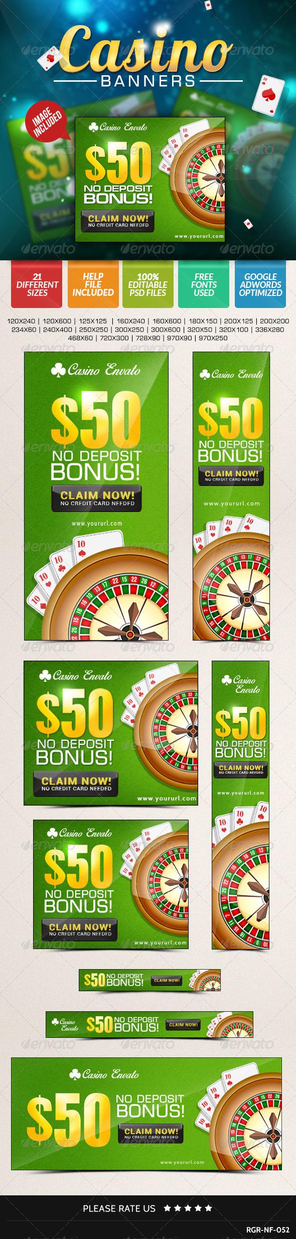 GraphicRiver Casino Banners 8487782