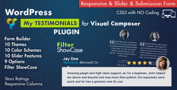 18. Testimonials Showcase for Visual Composer Plugin