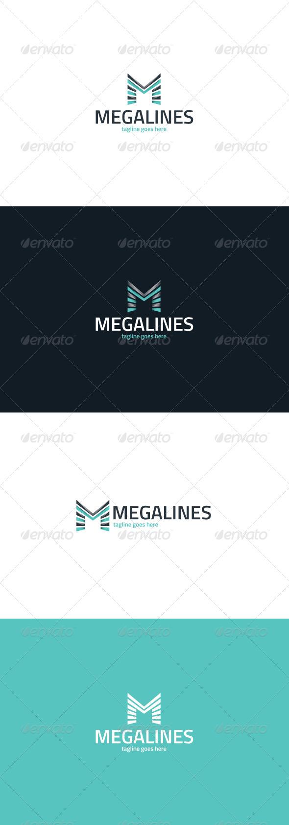 GraphicRiver Mega Lines Logo Letter M 8487968