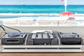 dj console on the beach - PhotoDune Item for Sale