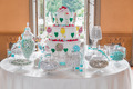 Dessert table with cake and candy for a wedding or party - PhotoDune Item for Sale
