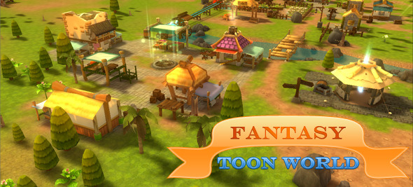 3DOcean Fantasy Toon World for RPG MMO 8434086