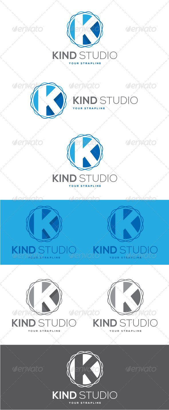 GraphicRiver Kind Studio Letter K Logo 8488245