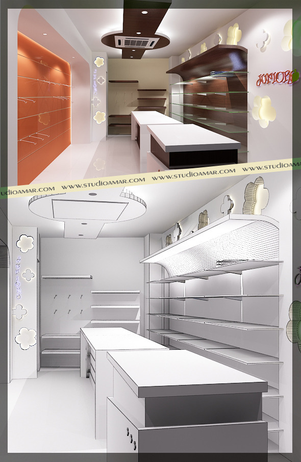 Realistic Textile Shop Interior 125