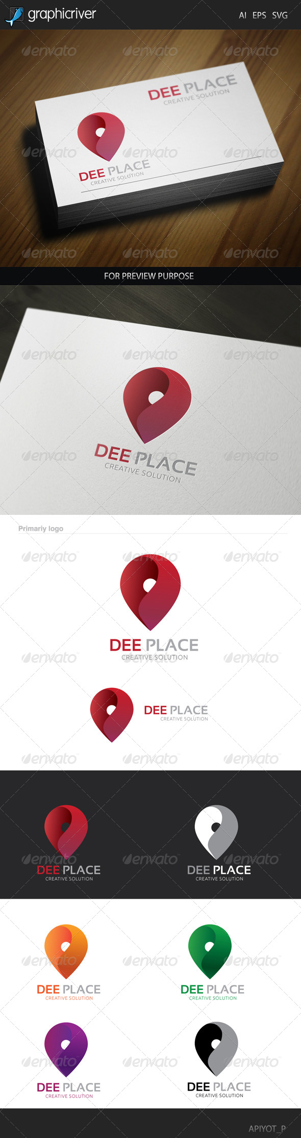 GraphicRiver Dee Place Logo 8488307