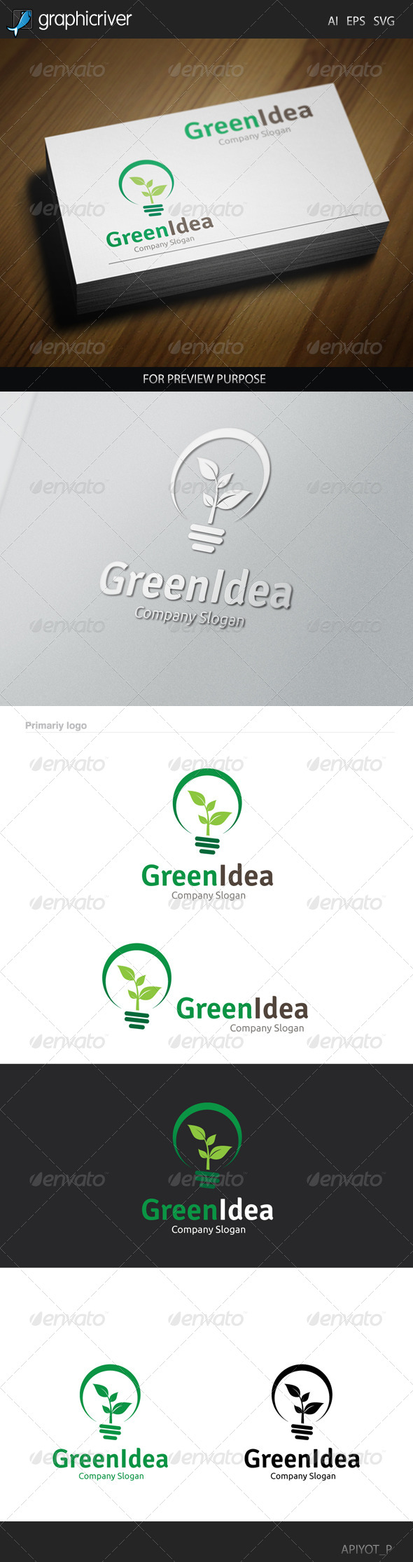 GraphicRiver Green Idea Logo 8488343