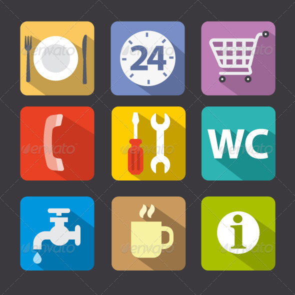 GraphicRiver Service Icon Set 8488345