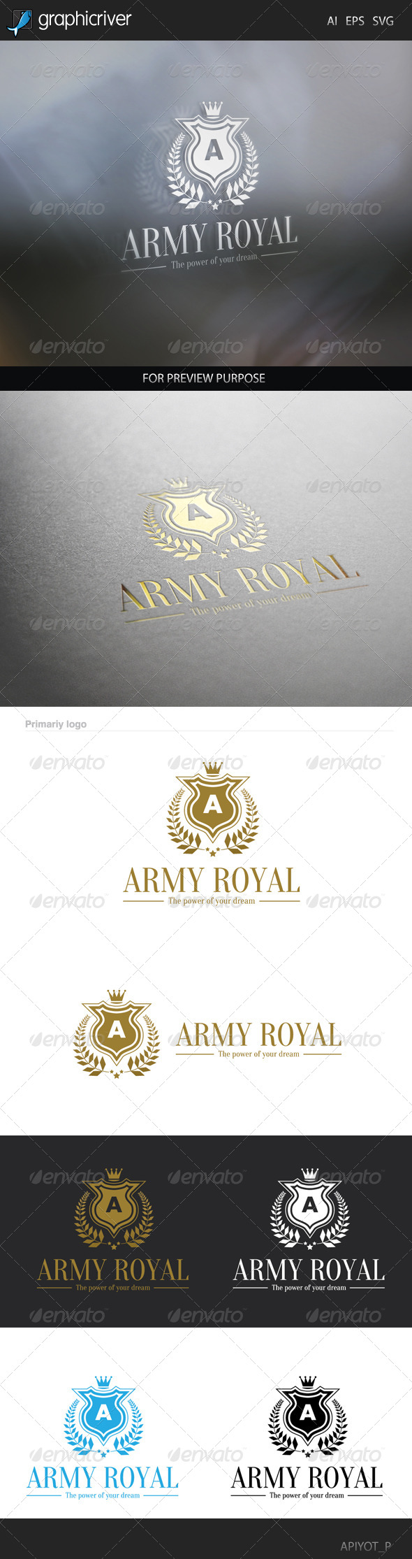 GraphicRiver Army Royal Logo 8488348