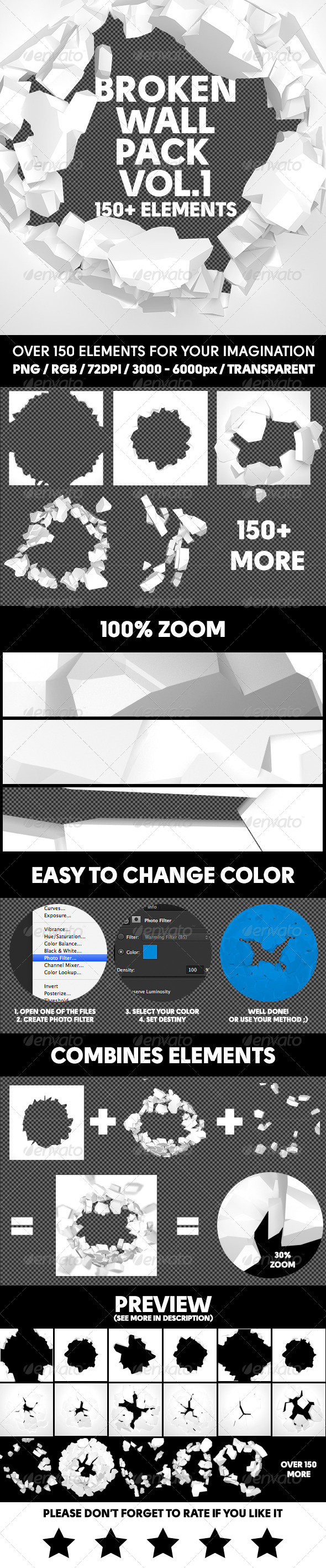 GraphicRiver Broken Wall Pack Vol.1 8488359