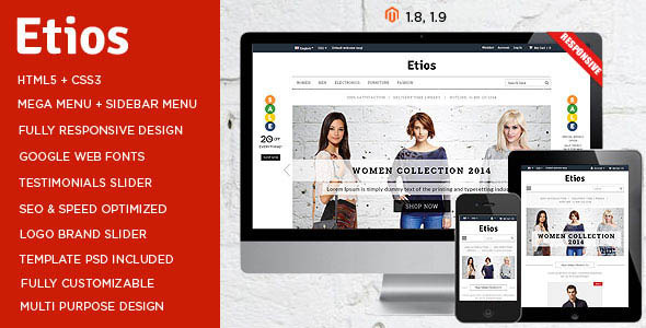 ThemeForest Etios Responsive Multipurpose Magento Theme 8488373