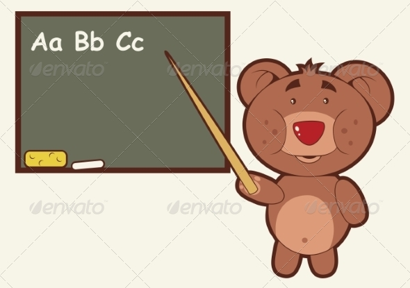 GraphicRiver Bear Teacher 8488409