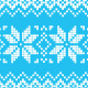Winter Christmas Blue Seamless Pixelated Pattern  - GraphicRiver Item for Sale