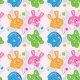 Funny Bunny Seamless Wallpaper - GraphicRiver Item for Sale