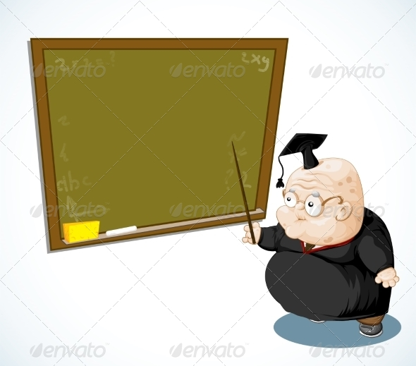 Old Professor with a Pointer