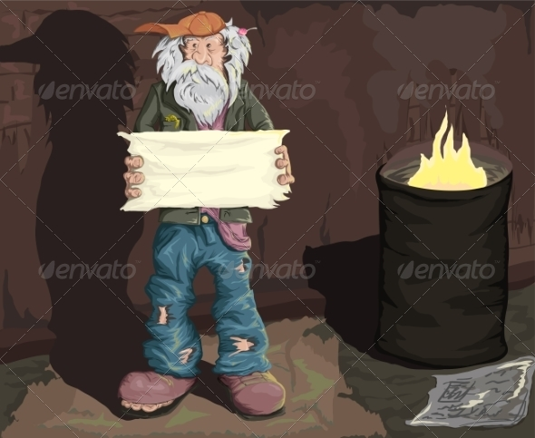 GraphicRiver Homeless Man 8488562