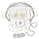 Monkey Listens to Music - GraphicRiver Item for Sale