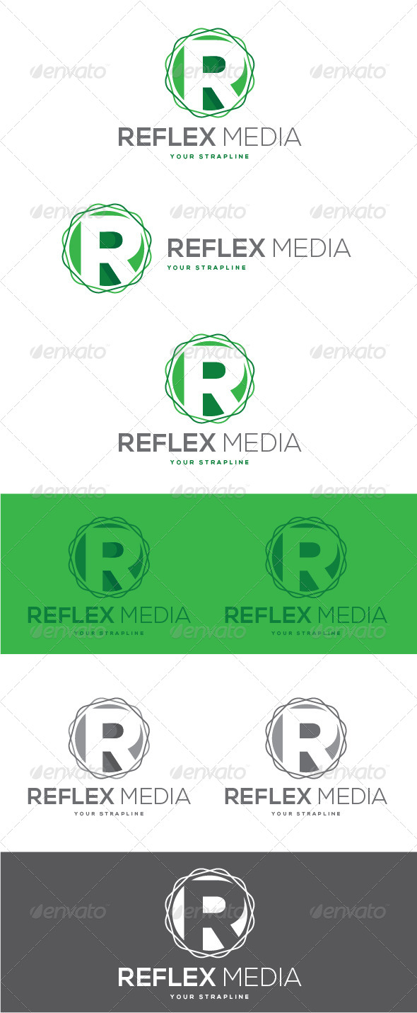 GraphicRiver Reflex Media Letter R Logo 8488682